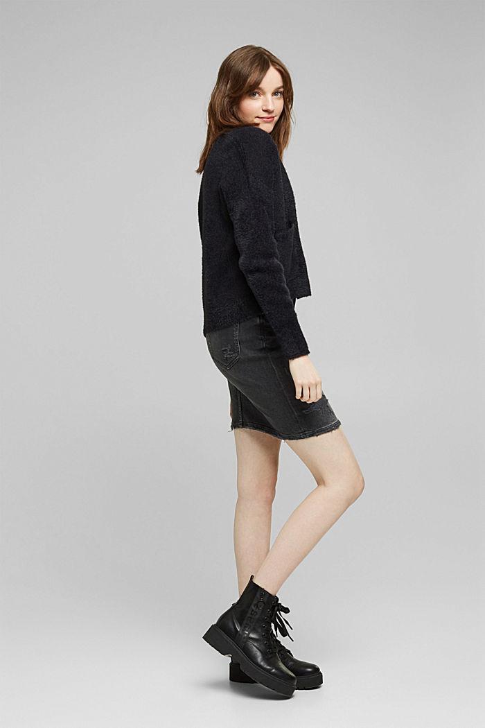 Cardigan mit Organic Cotton, BLACK, detail image number 1