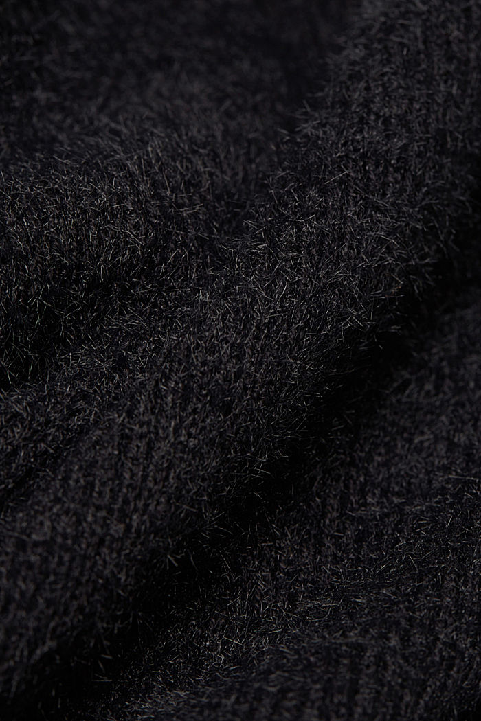 Cardigan with organic cotton, BLACK, detail image number 4