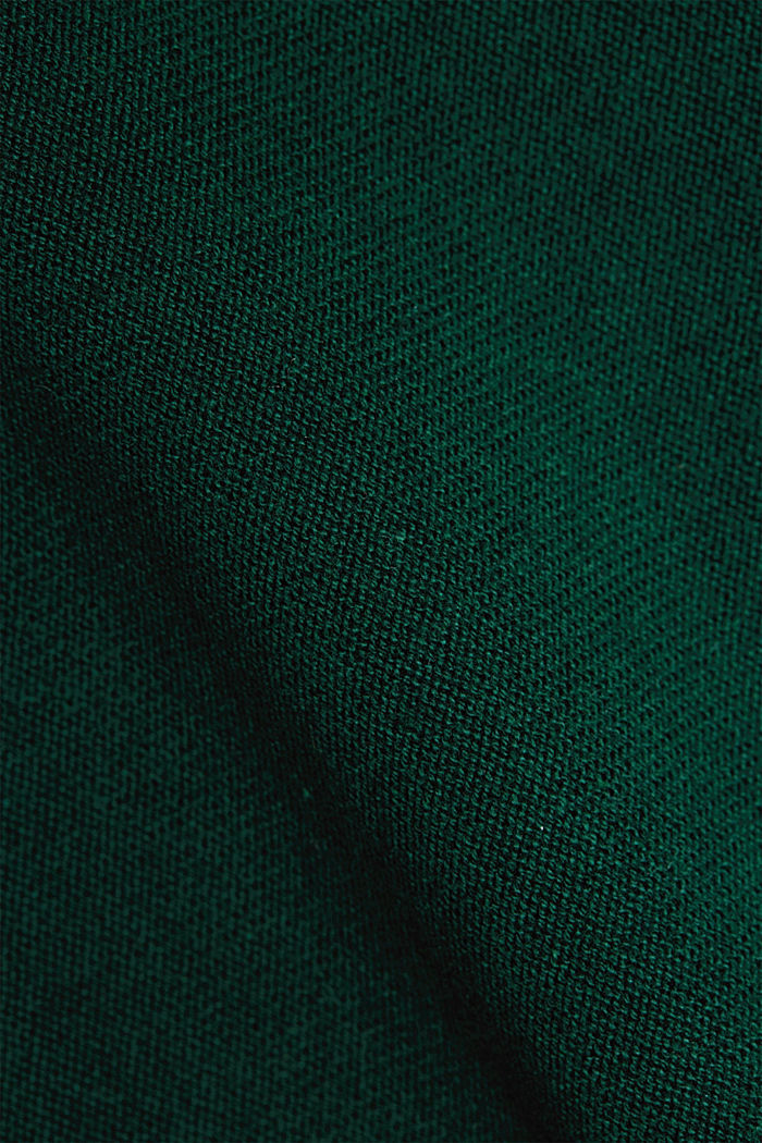 Jumper with organic cotton, BOTTLE GREEN, detail image number 4