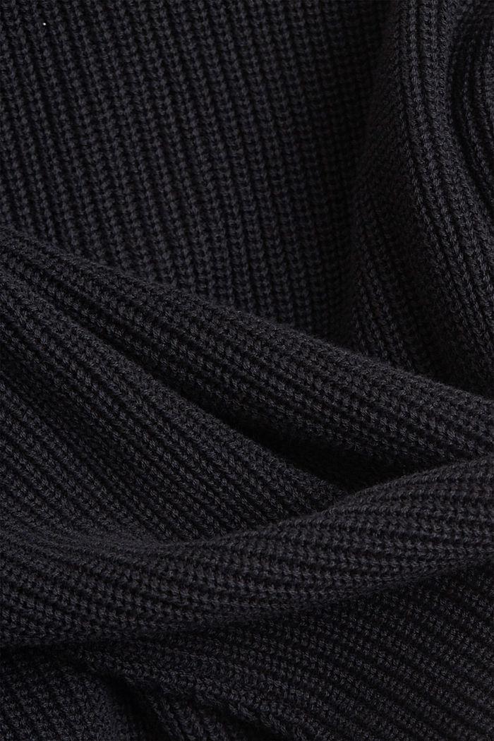 Cardigan made of 100% organic cotton, BLACK, detail image number 4