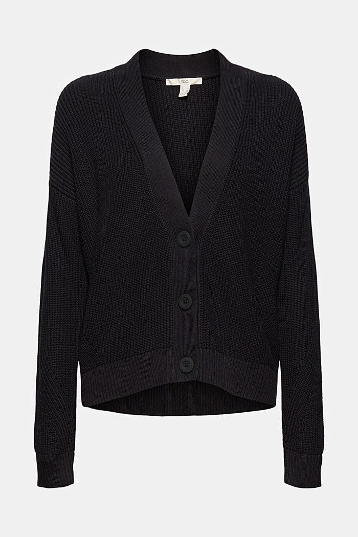 Cardigan made of 100% organic cotton, BLACK, detail image number 6