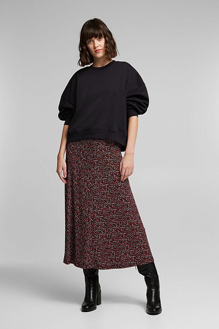 Organic cotton sweatshirt, BLACK, detail image number 7