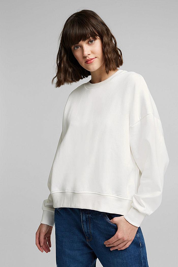 Organic cotton sweatshirt, OFF WHITE, detail image number 0