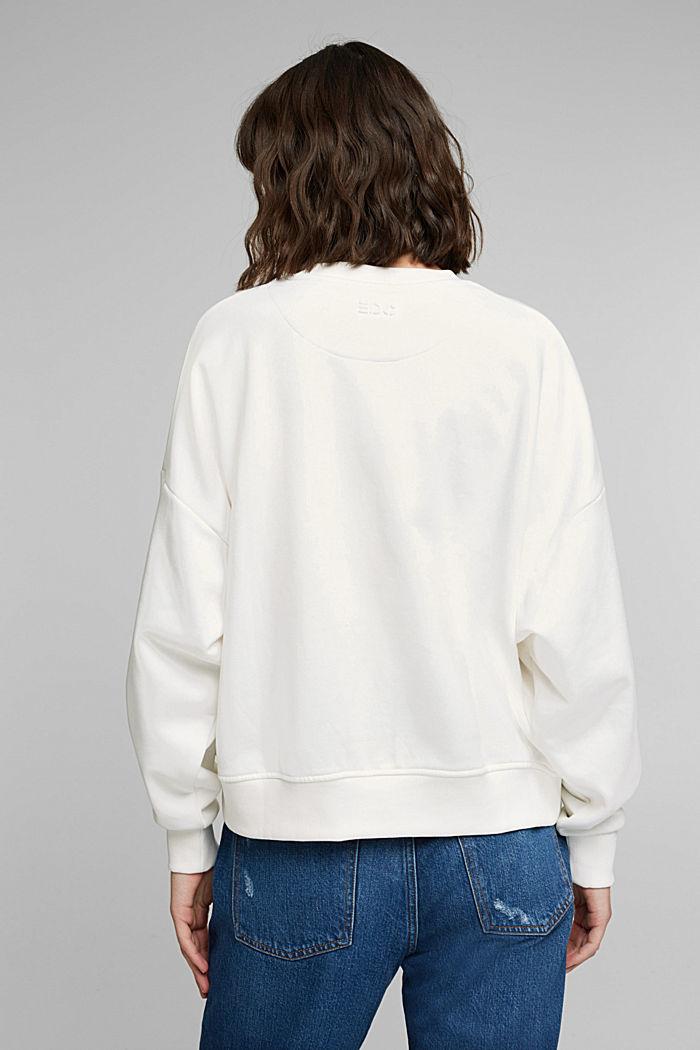 Organic cotton sweatshirt, OFF WHITE, detail image number 3