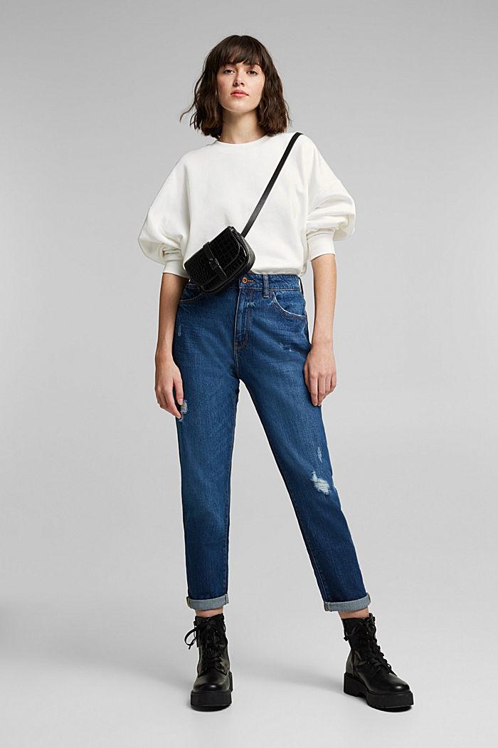 Organic cotton sweatshirt, OFF WHITE, detail image number 1