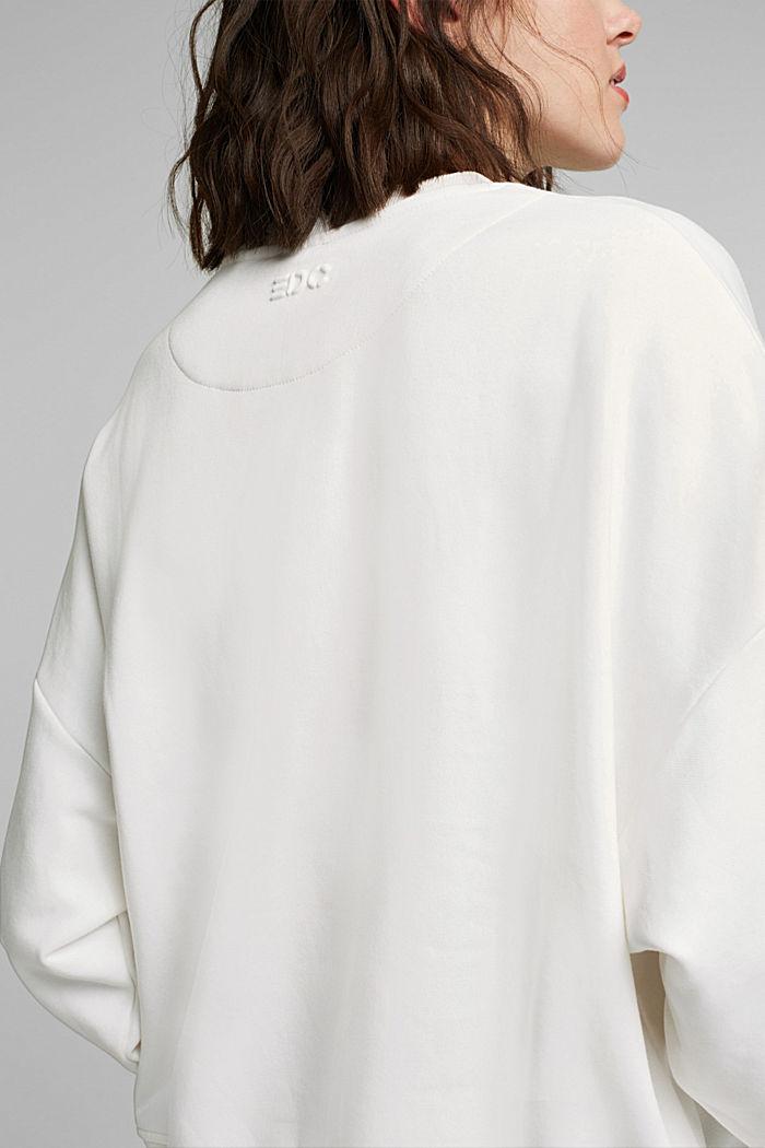Organic cotton sweatshirt, OFF WHITE, detail image number 2