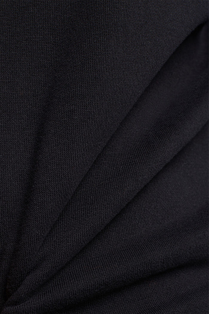 Organic cotton sweatshirt, BLACK, detail image number 4