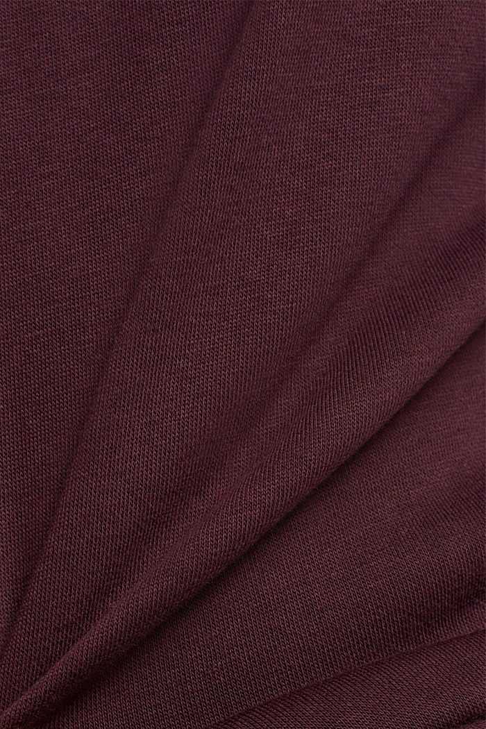 Organic cotton sweatshirt, AUBERGINE, detail image number 4