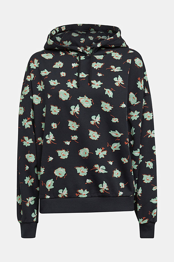 Print hoodie with organic cotton
