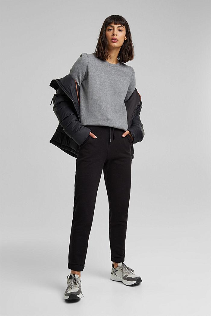 Organic cotton sweatshirt, GUNMETAL, detail image number 1