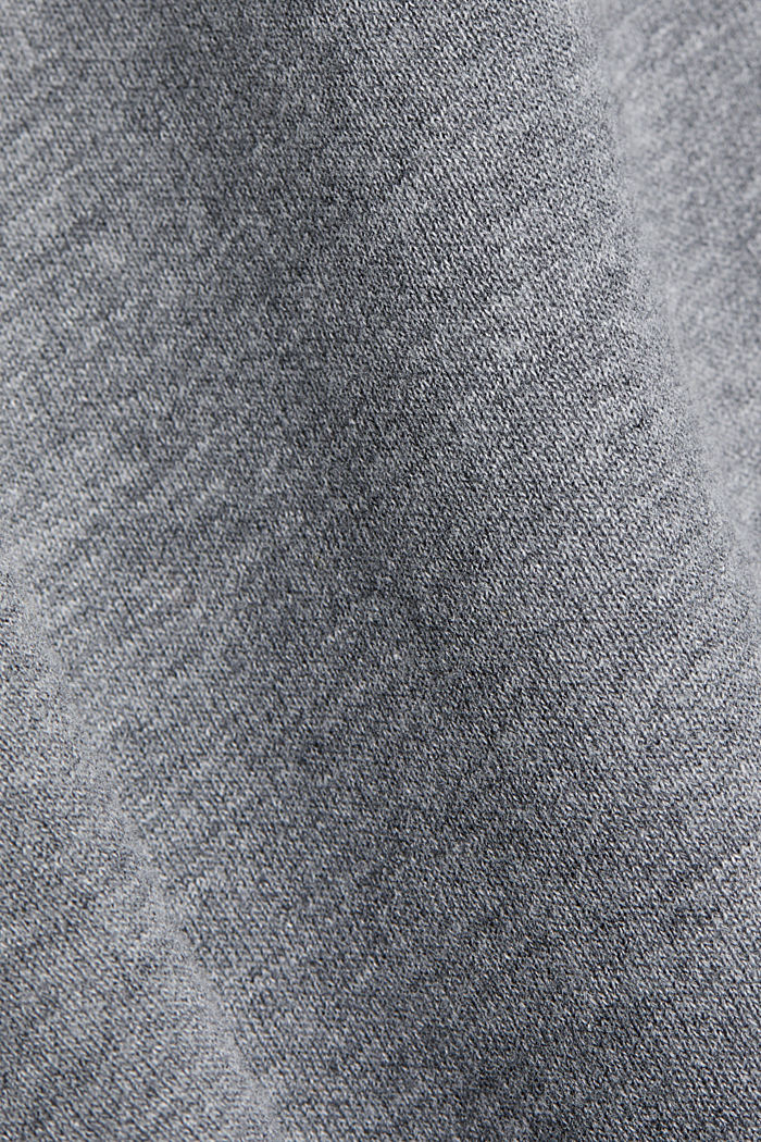 Organic cotton sweatshirt, GUNMETAL, detail image number 4