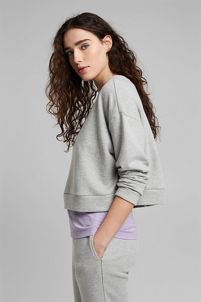 Cropped sweatshirt with organic cotton