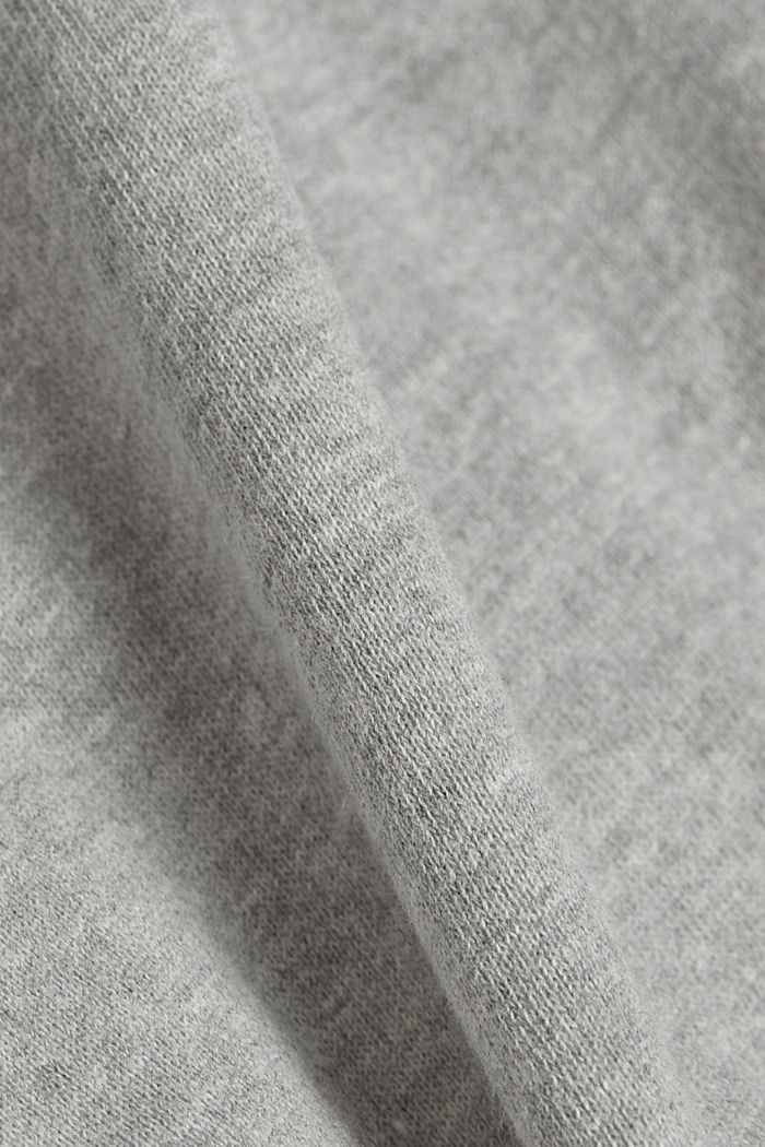 Cropped sweatshirt with organic cotton, LIGHT GREY, detail image number 4