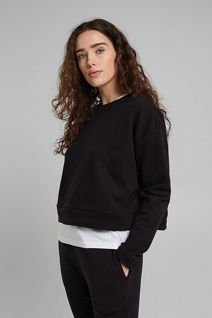 Cropped sweatshirt made of 100% organic cotton