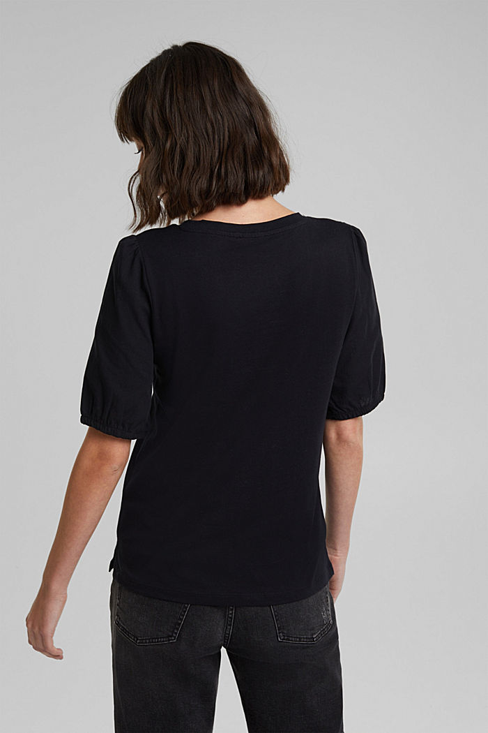 T-shirt made of 100% organic cotton, BLACK, detail image number 3