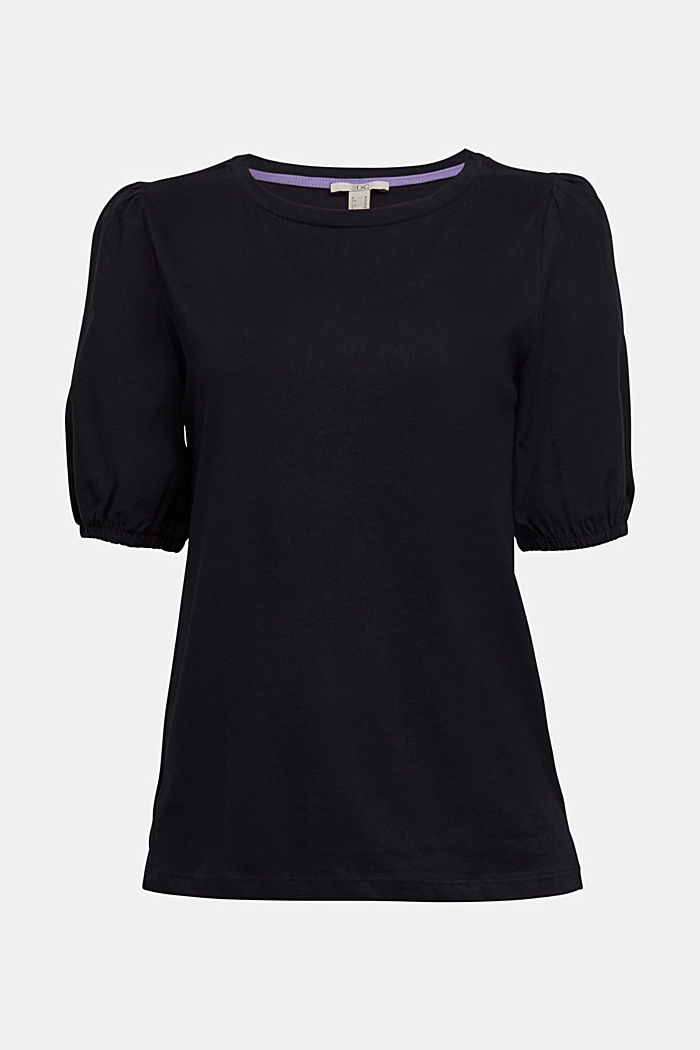 T-shirt made of 100% organic cotton, BLACK, overview