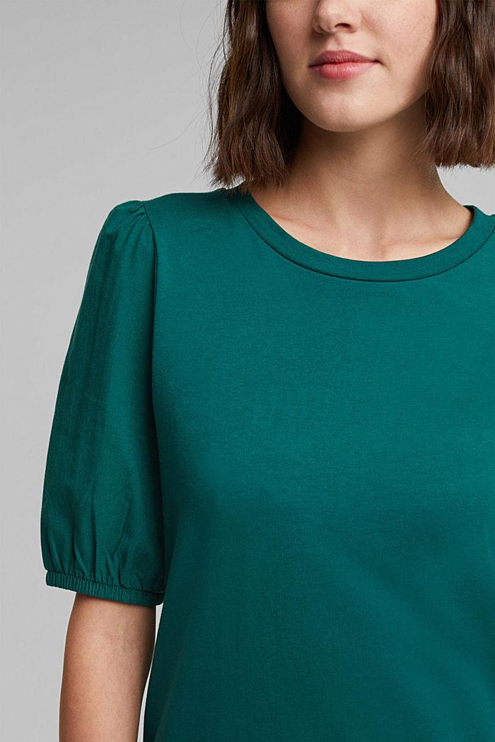 T-shirt made of 100% organic cotton, DARK TEAL GREEN, detail image number 2