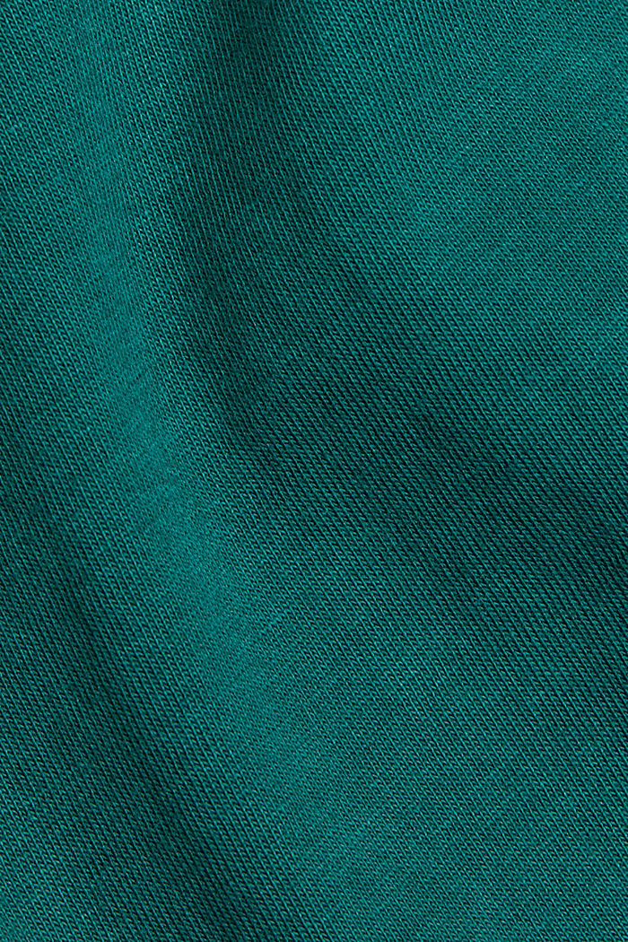 T-shirt made of 100% organic cotton, DARK TEAL GREEN, detail image number 4