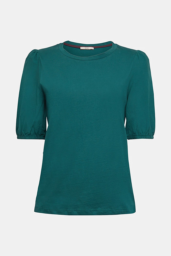 T-shirt made of 100% organic cotton, DARK TEAL GREEN, overview