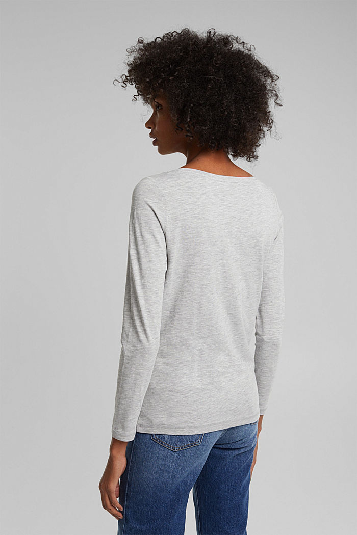 Long sleeve top made of organic cotton, LIGHT GREY, detail image number 3