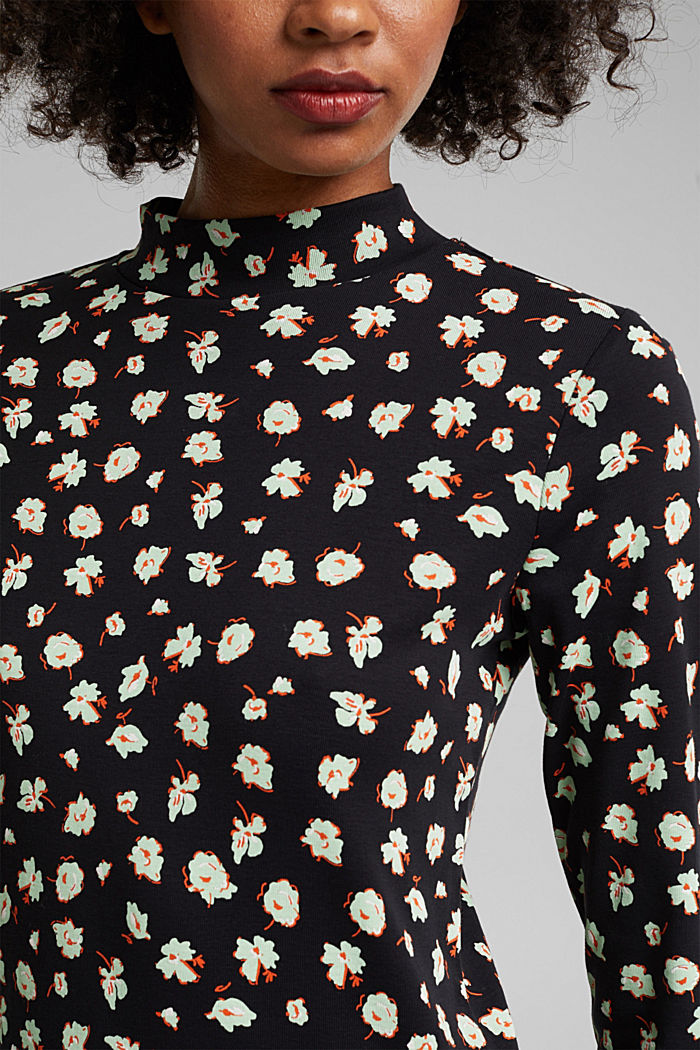 Long sleeve top made of 100% organic cotton, BLACK, detail image number 2