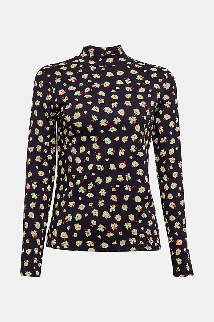 Long sleeve top made of 100% organic cotton, NAVY, detail image number 7