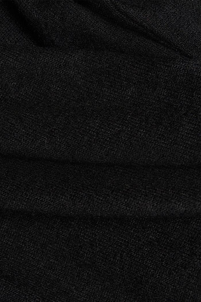 Made of TENCEL™: Mock layer long sleeve top, BLACK, detail image number 4