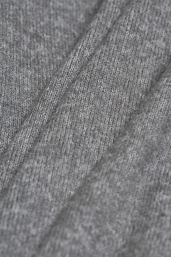 Made of TENCEL™: Mock layer long sleeve top, GUNMETAL, detail image number 4