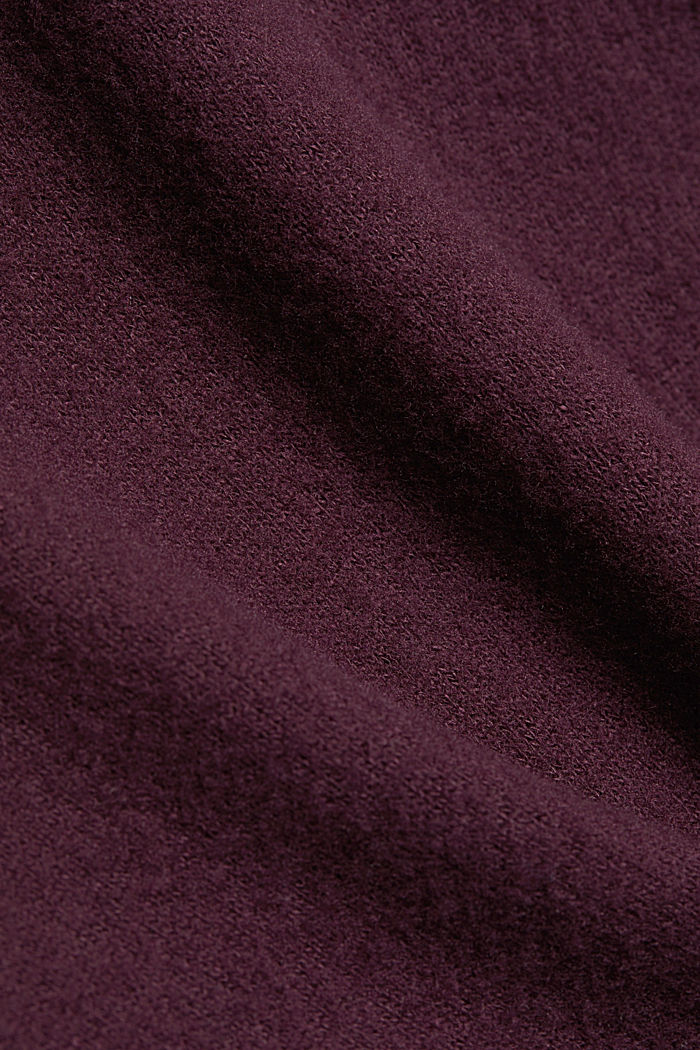Made of TENCEL™: Mock layer long sleeve top, AUBERGINE, detail image number 4