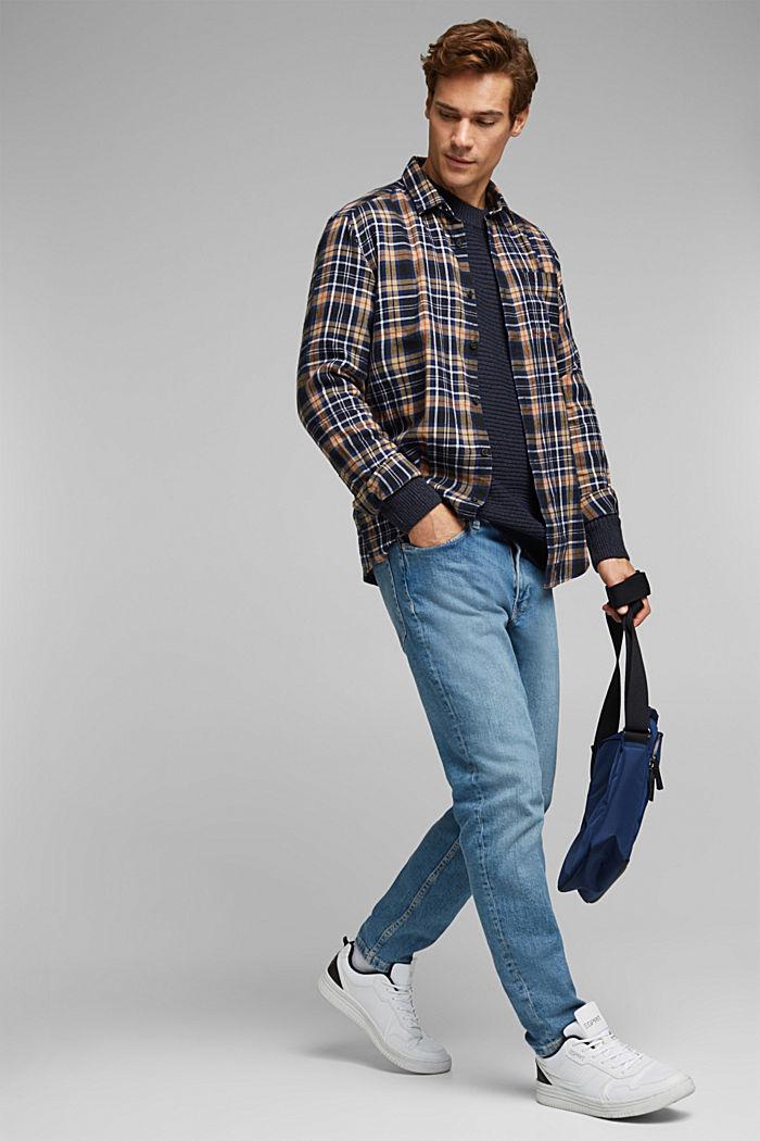 Wool blend: textured jumper, NAVY, detail image number 1