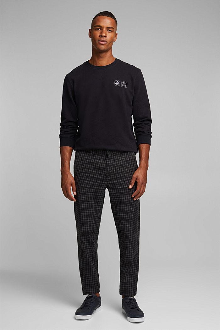 Print sweatshirt in 100% cotton, BLACK, detail image number 4