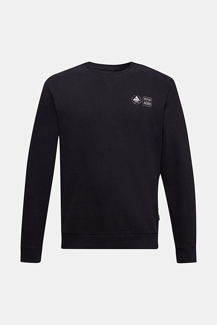 Print sweatshirt in 100% cotton