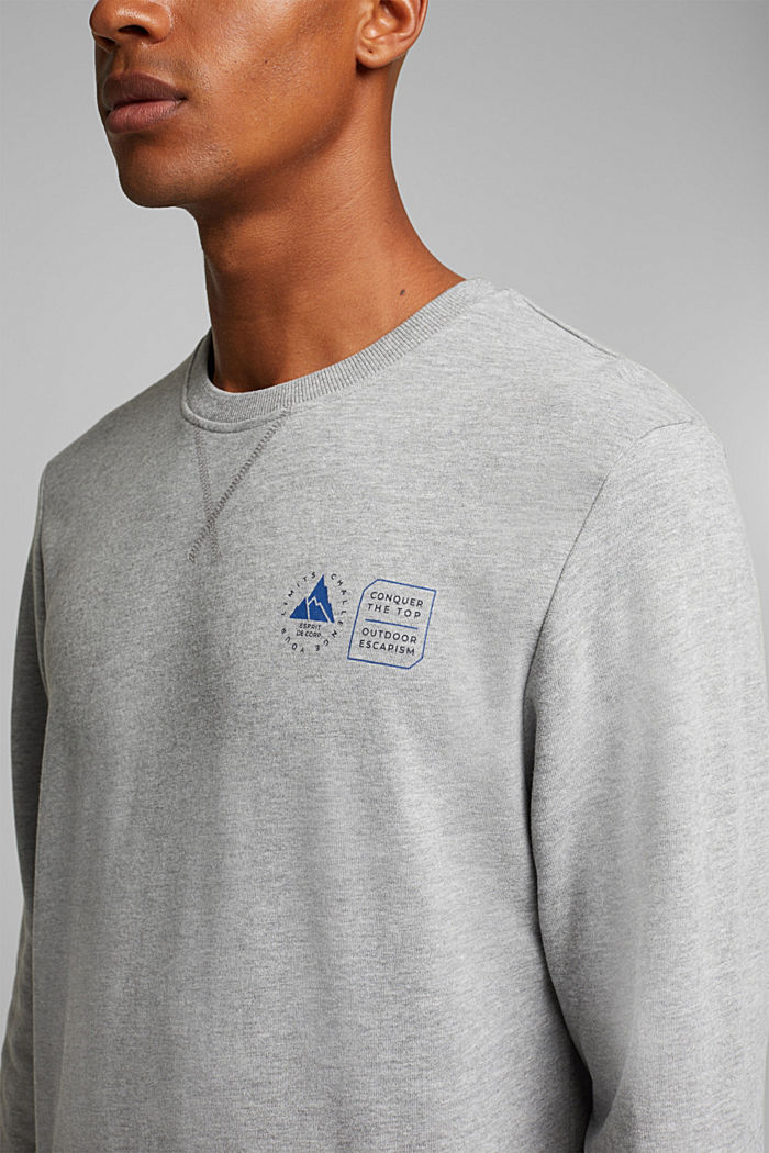 Sweatshirt mit Organic Cotton, MEDIUM GREY, detail image number 2