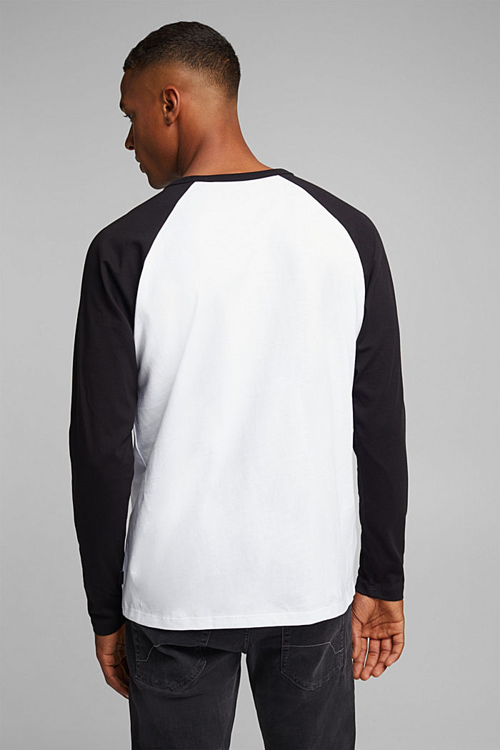 Long sleeve top made of 100% organic cotton, WHITE, detail image number 3