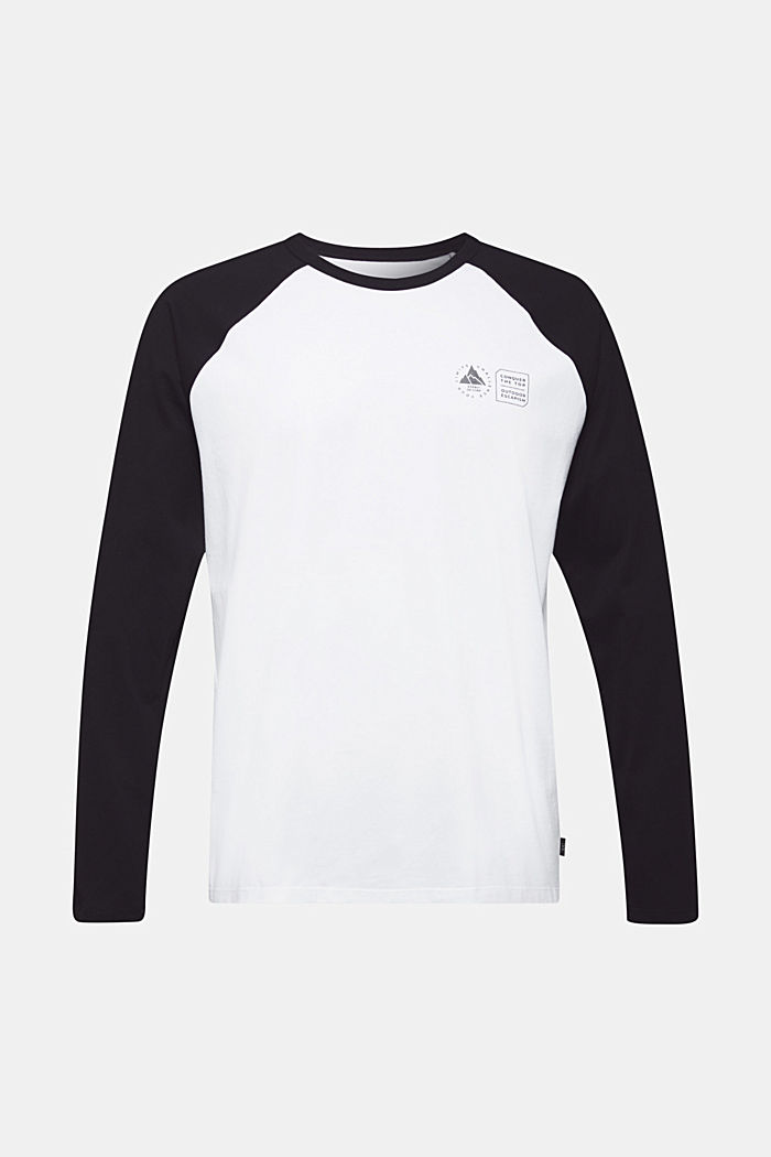 Long sleeve top made of 100% organic cotton, WHITE, detail image number 6