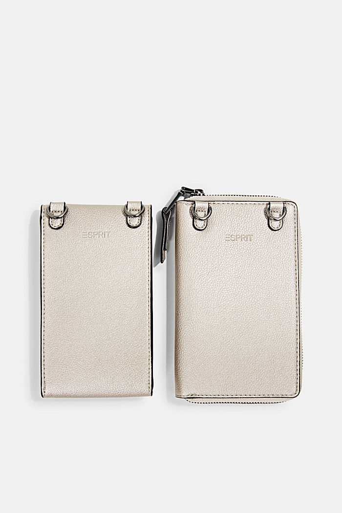 Monogram phone bag and wallet, GUNMETAL, detail image number 4