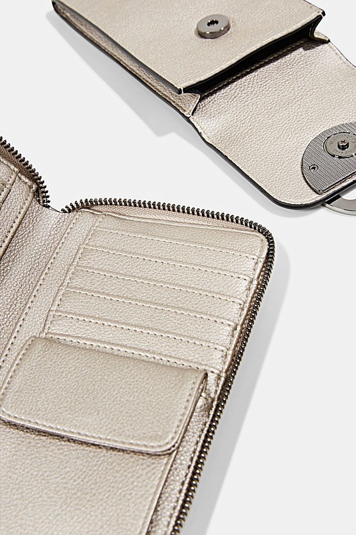 Monogram phone bag and wallet, GUNMETAL, detail image number 3