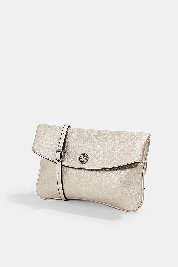 Flap Over-Bag in Metallic-Optik, GUNMETAL, detail image number 2