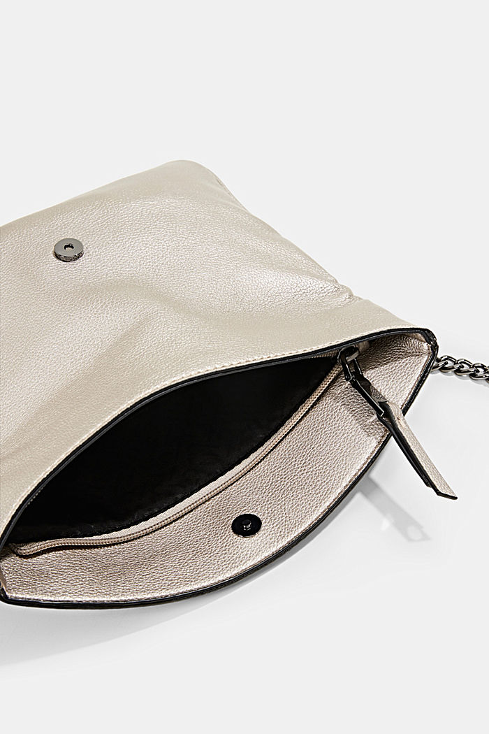 Flap-over bag with a metallic finish, GUNMETAL, detail image number 4