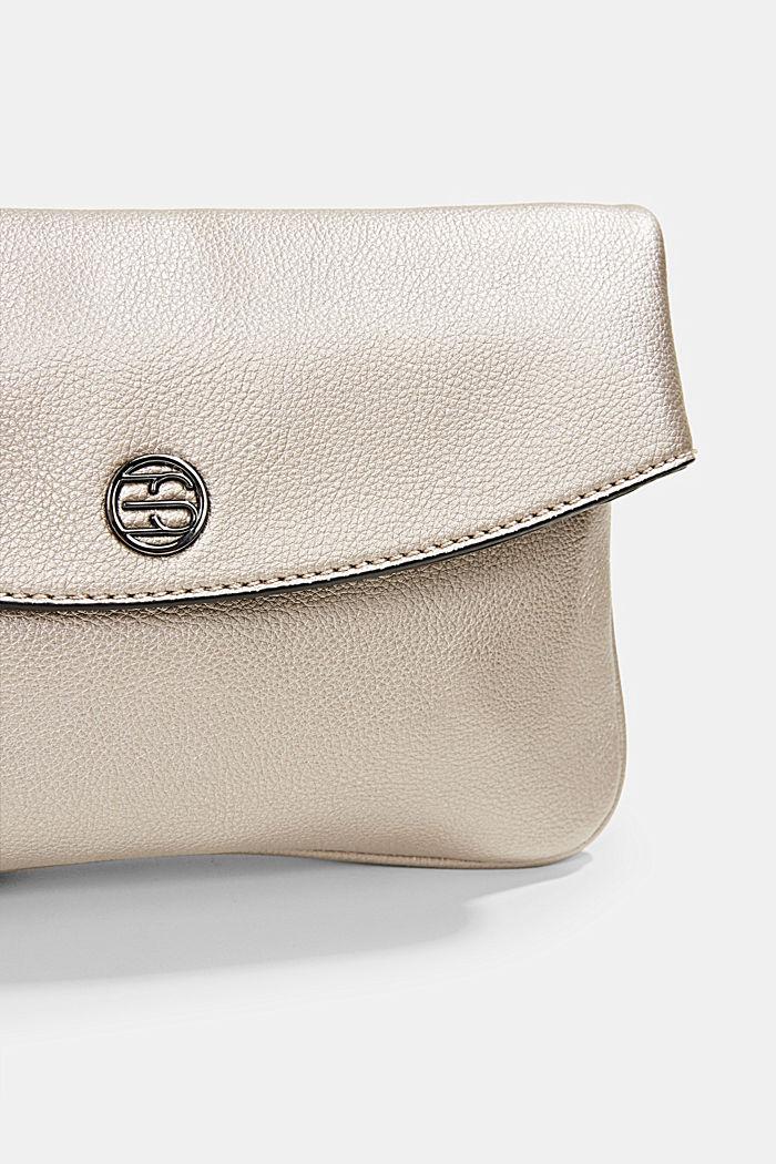 Flap Over-Bag in Metallic-Optik, GUNMETAL, detail image number 3