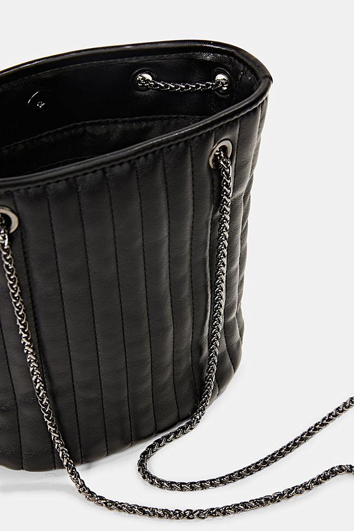 Kleine Schultasche mit Kettenriemen, BLACK, detail image number 4