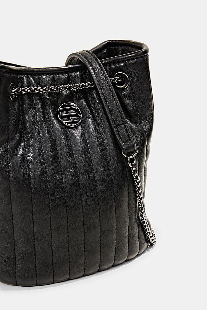 Kleine Schultasche mit Kettenriemen, BLACK, detail image number 3