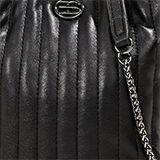 Kleine Schultasche mit Kettenriemen, BLACK, swatch
