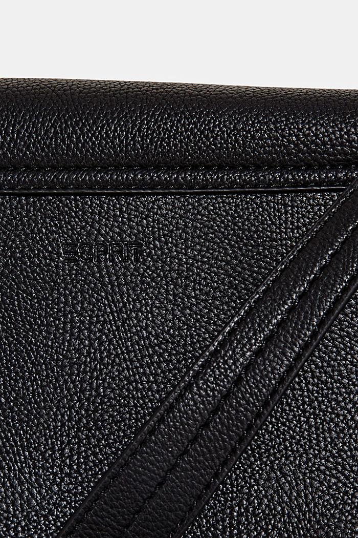 Vegan: Schultertasche in Leder-Optik, BLACK, detail image number 5