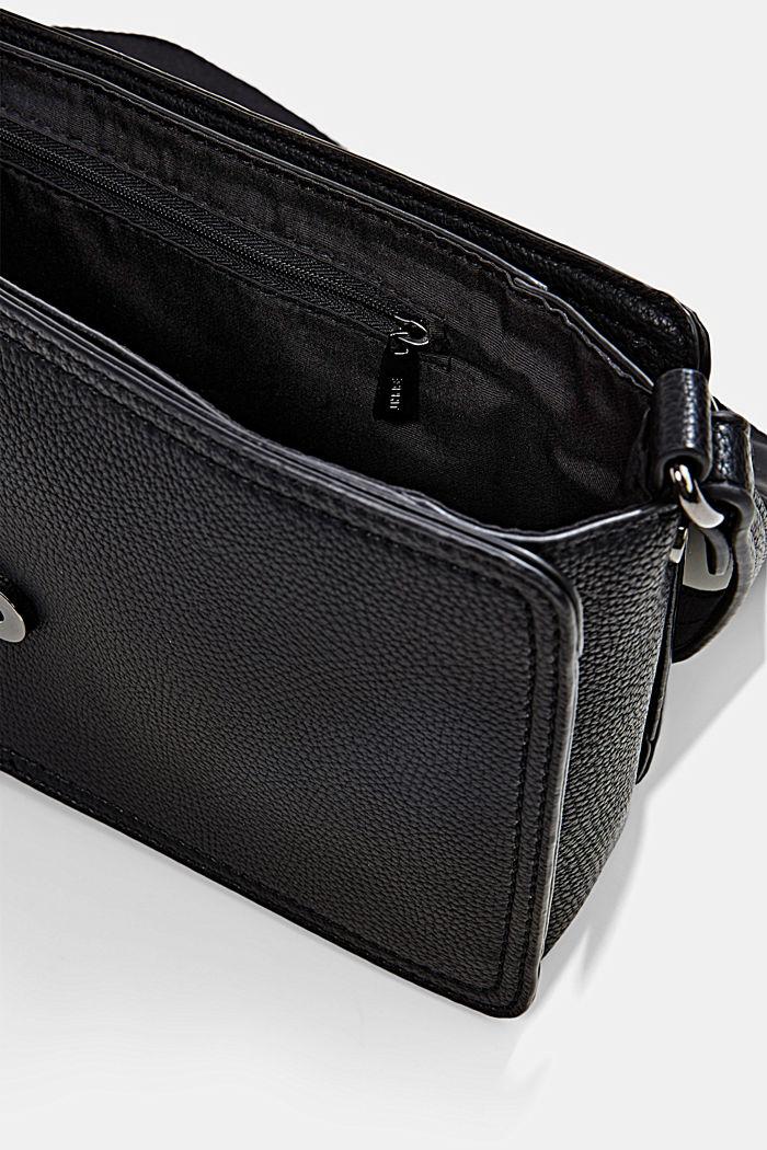 Vegan: faux leather shoulder bag, BLACK, detail image number 4
