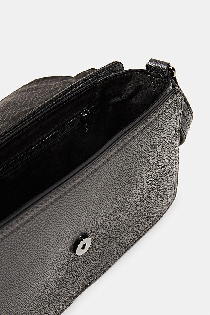 Vegan: faux leather shoulder bag, GUNMETAL, detail image number 4