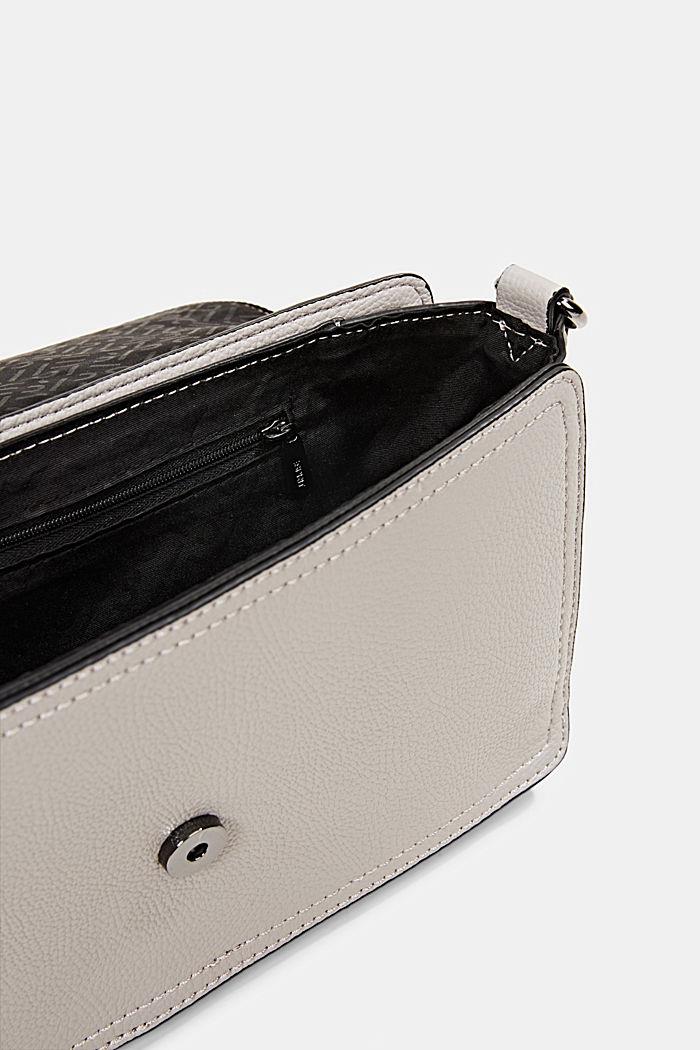 Vegan: faux leather shoulder bag, LIGHT GREY, detail image number 4