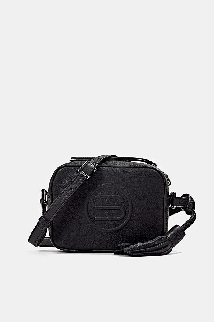 Leather camera bag, BLACK, detail image number 0