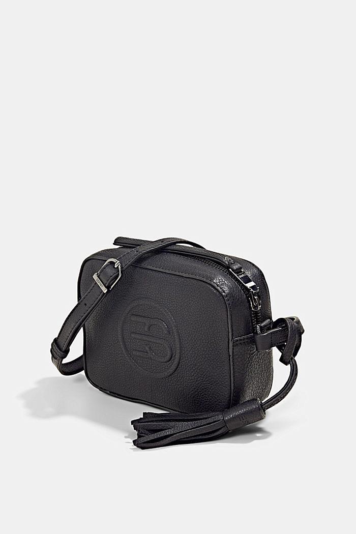Leather camera bag, BLACK, detail image number 2