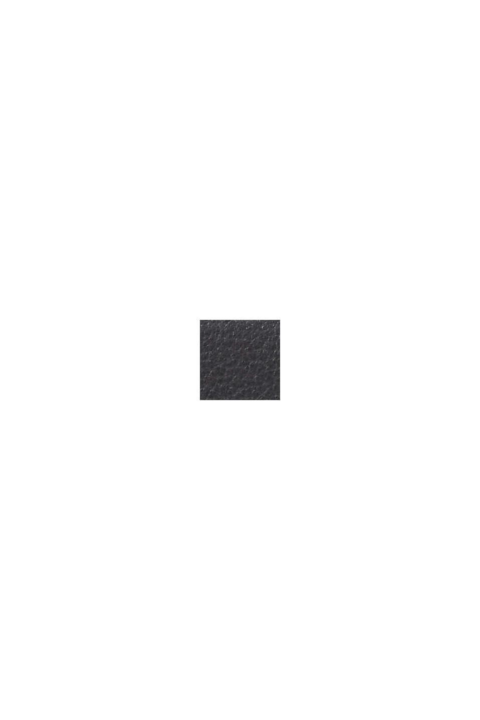Sac bandoulière en cuir orné d´un monogramme, BLACK, swatch